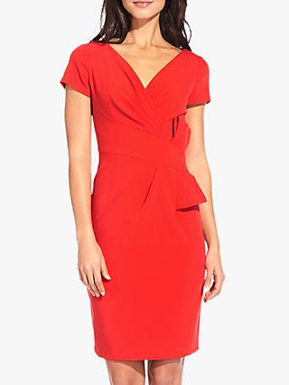 Adrianna Papell Bow Waist Dress, Red Polish