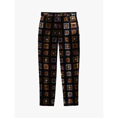 Gerard Darel Gabin Abstract Print Trousers, Black