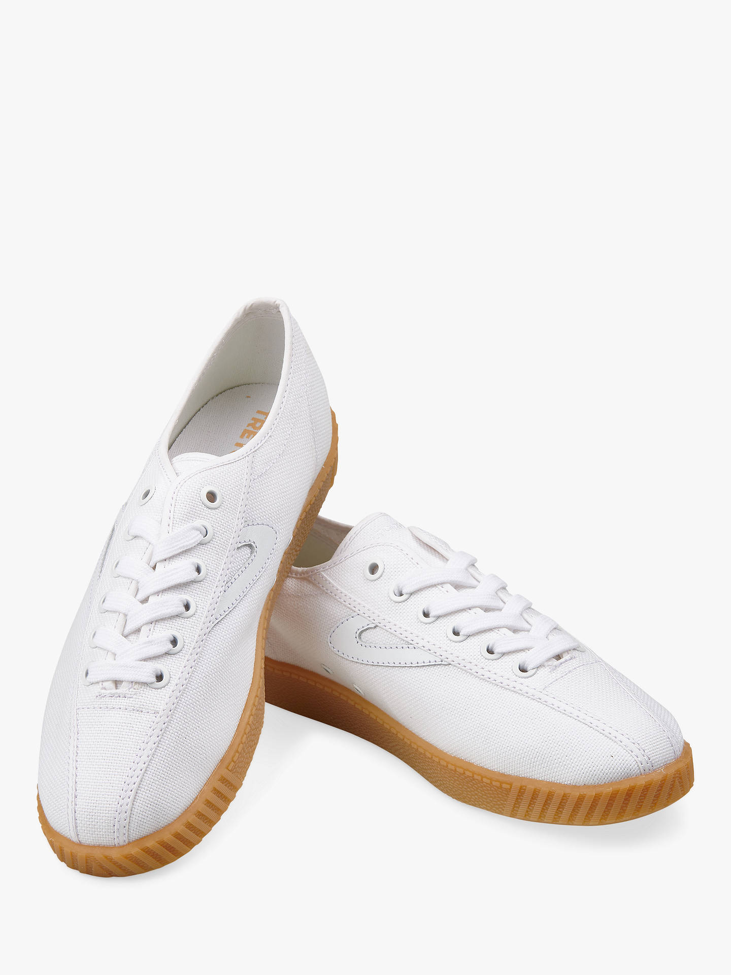 Buy Tretorn Nylite Trainers, White, 7 Online at johnlewis.com