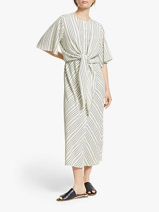 Modern Rarity Fluid Striped Dress, White