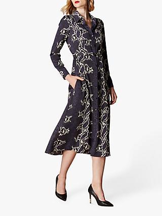 695e83c4b0 Karen Millen Snake Print Midi Shirt Dress