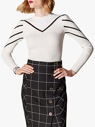 4084da09f7 Karen Millen Stripe Ribbed Jumper