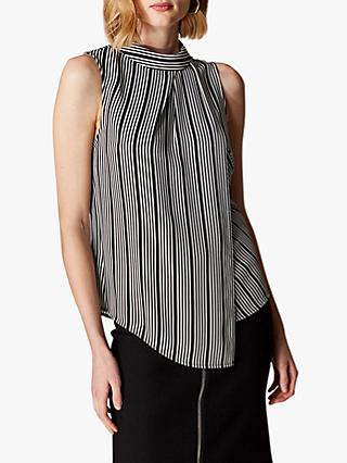 db8530321c98b4 Karen Millen Sleeveless Asymmetric Stripe Top