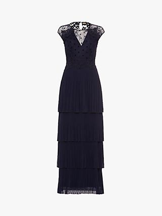 Phase Eight Collection 8 Oiriana Pleated Dress, Navy