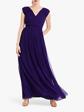Phase Eight Marion Crinkle Maxi Dress, Violet