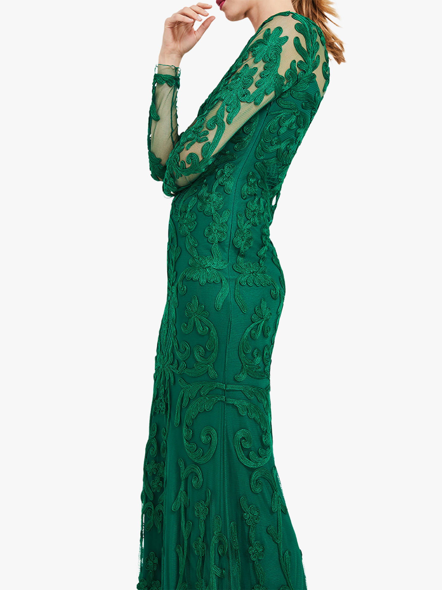 8be5e3c8138a ... Buy Phase Eight Nikita Lace Embroidered Maxi Dress, Emerald Green, 6  Online at johnlewis ...