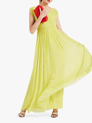 Phase Eight Marion Crinkle Maxi Dress, Lime