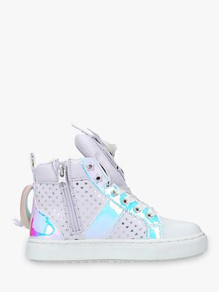 Kurt Geiger London Children's Magical Unicorn Hi-Top Trainers, Purple