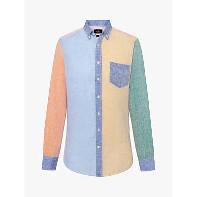 Hackett London Multi Panel Linen Shirt, Multi
