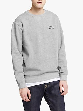 Edwin Base Crew Neck Logo Sweatshirt, Mouline Grey