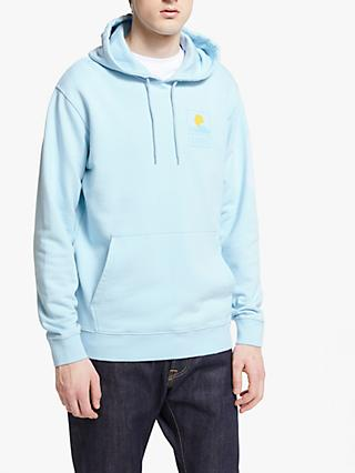Edwin Sunset on Mount Fuji Hoodie, Cool Blue