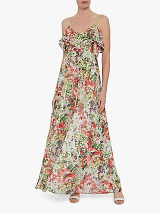 570af963ce4 Gina Bacconi Narelle Floral Chiffon Maxi Dress