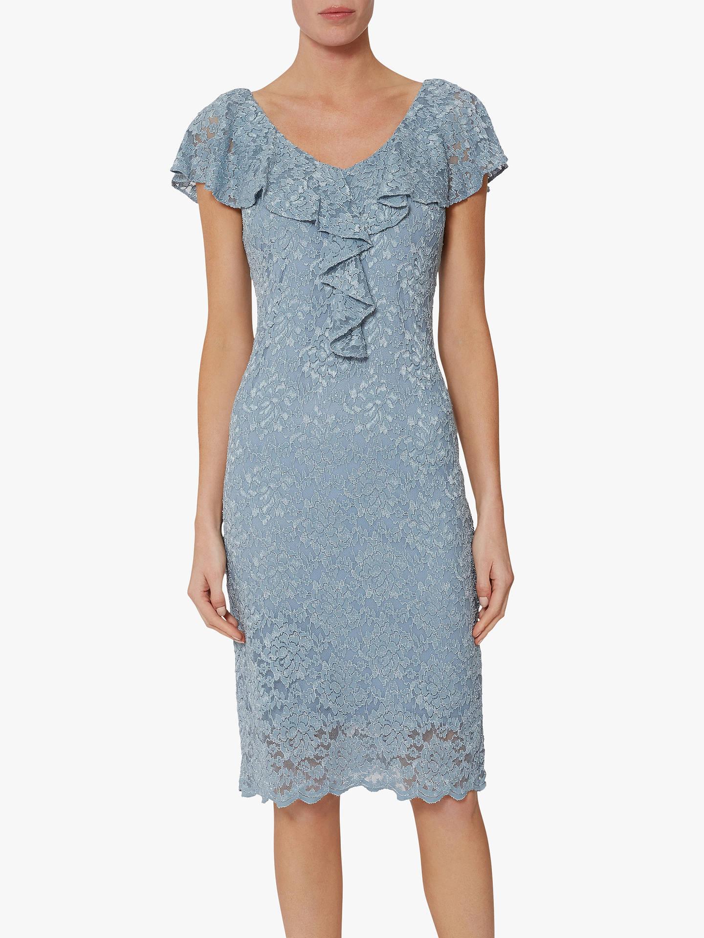cc1f3e2db36 Gina Bacconi Starla Ruffle Lace Embroidered Dress at John Lewis ...