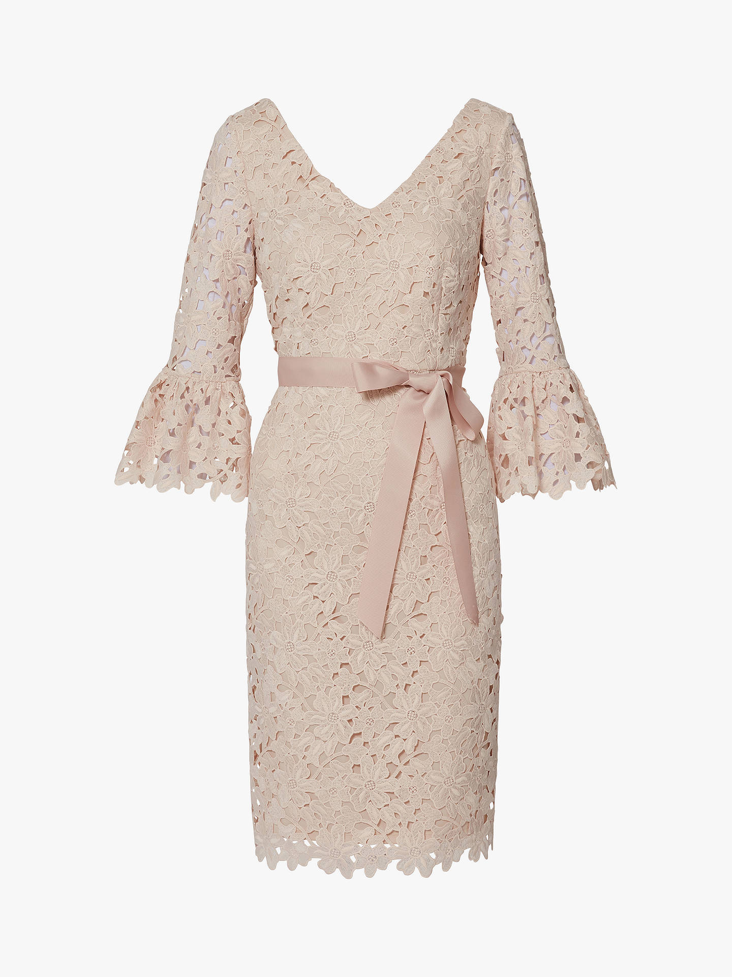 Buy Gina Bacconi Chyna Embroidered Dress, Antique Rose, 10 Online at johnlewis.com