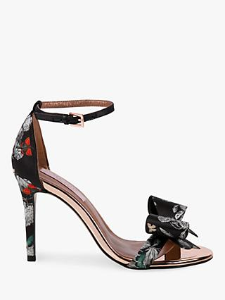 Ted Baker Bowdalp Narnia Stiletto Heel Sandals, Black/Multi