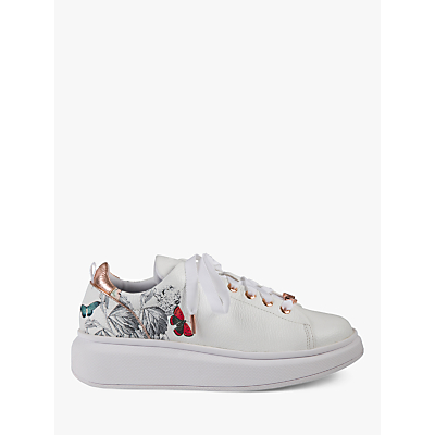 Image of Ted Baker Ailbe 3 Narnia Low Top Trainers, White Leather