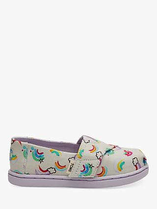 TOMS Children's Alpagartas Rainbow Canvas Shoes, Multi