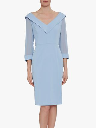 Gina Bacconi Cynthia Crepe And Chiffon Dress