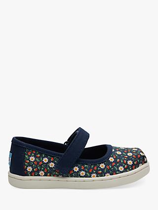 85eb887764ab TOMS Children s Mary Jane Ditsy Floral Riptape Shoes