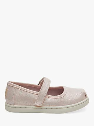 9c214926c TOMS Children s Mary Jane Glitter Riptape Shoes