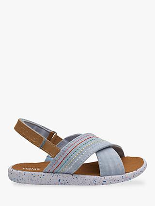TOMS Children's Viv Chambray Sandals, Blue