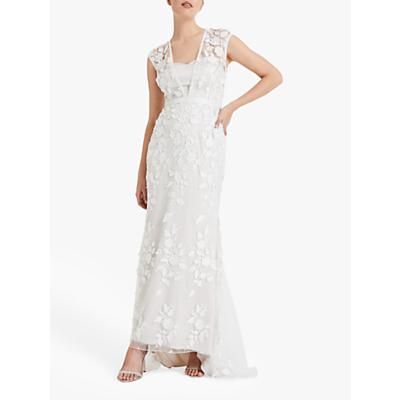 Phase Eight Peony Lace Wedding Dress, Almond