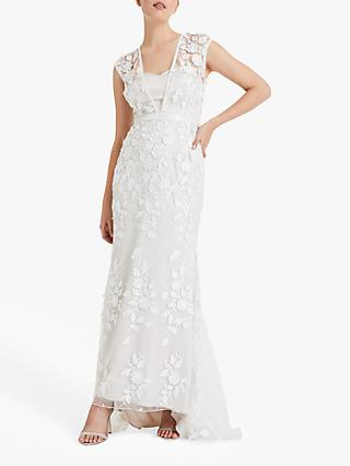 Phase Eight Peony Lace Wedding Dress, Almond