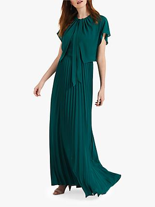 Phase Eight Giovanna Bridesmaid Tie Neck Cape, Jade