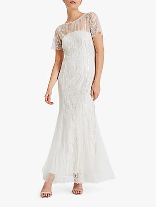 Phase Eight Leonora Wedding Dress, Almond