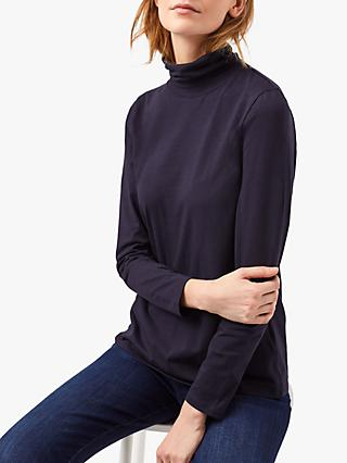 White Stuff Philippa Roll Neck Jersey Top, Navy