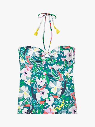 White Stuff Tropical Toucan Tankini Top, Multi