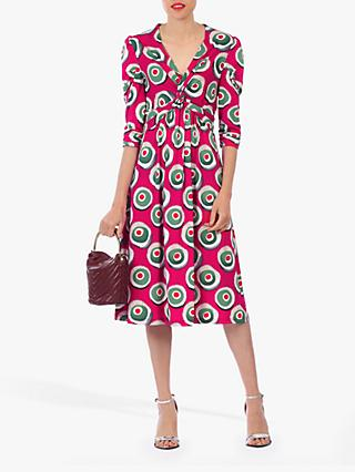 Jolie Moi Twisted Knot Dress, Plum