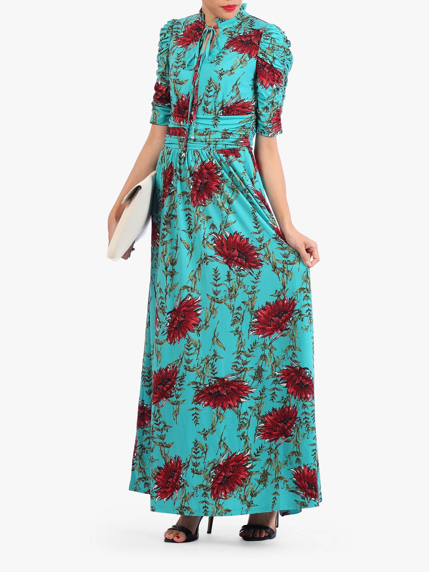 044631a20334 ... Buy Jolie Moi Tie Collar Floral Maxi Dress