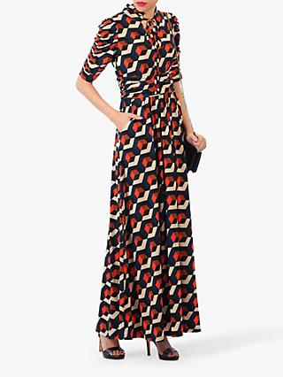 Jolie Moi Tie Collar Maxi Dress