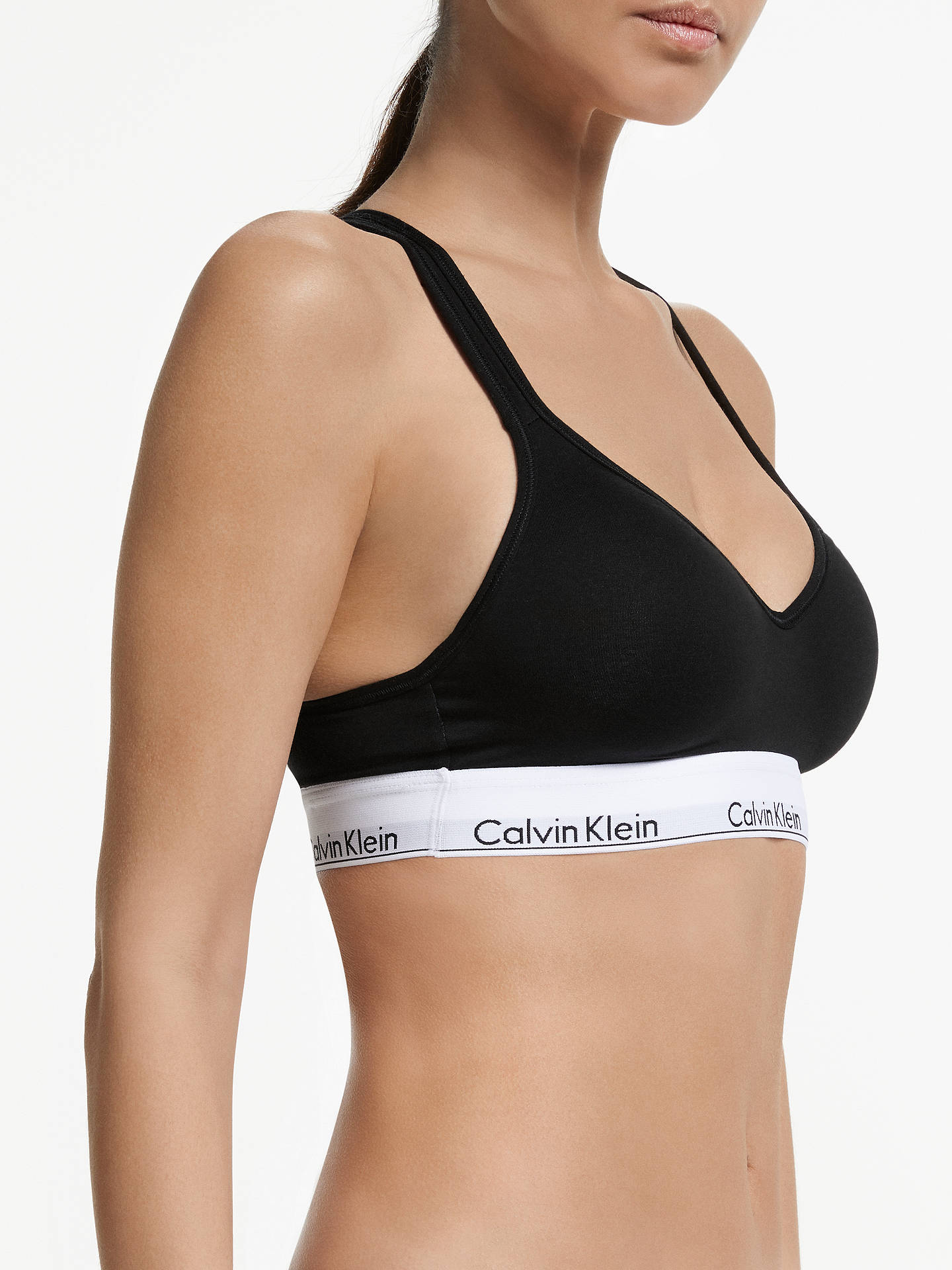 110c76056a2b53 Calvin Klein Modern Cotton Cross Strap Lift Bralette at John Lewis ...