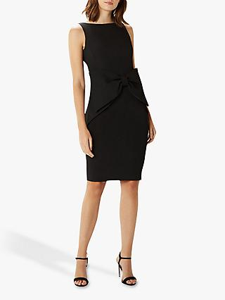Coast Glamour Bow Bodycon Dress, Black