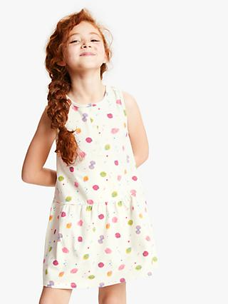 John Lewis & Partners Girls' Shell Print Dress, Multi