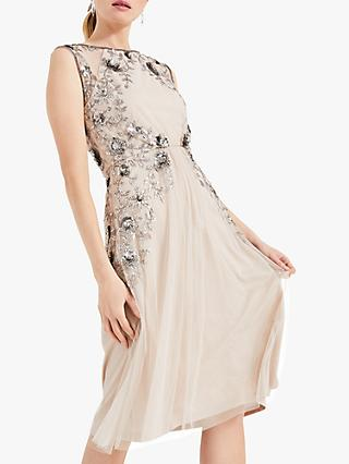 Phase Eight Toria Tulle Dress, Stone/Silver