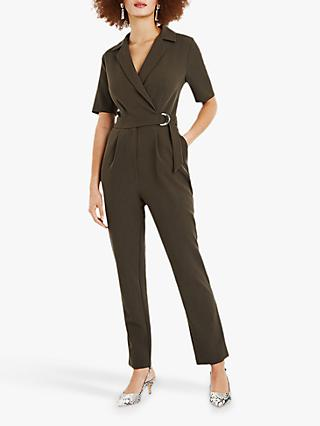 Oasis Revere Collar Tie Side Jumpsuit