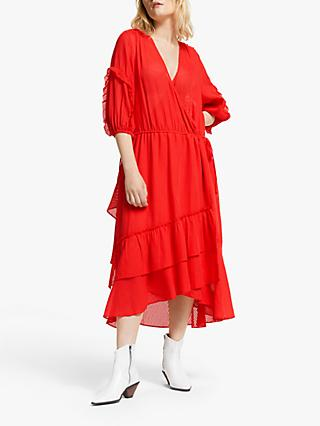 603be87ffc7 AND OR Roxy Wrap Over Sheer Stripe Dress