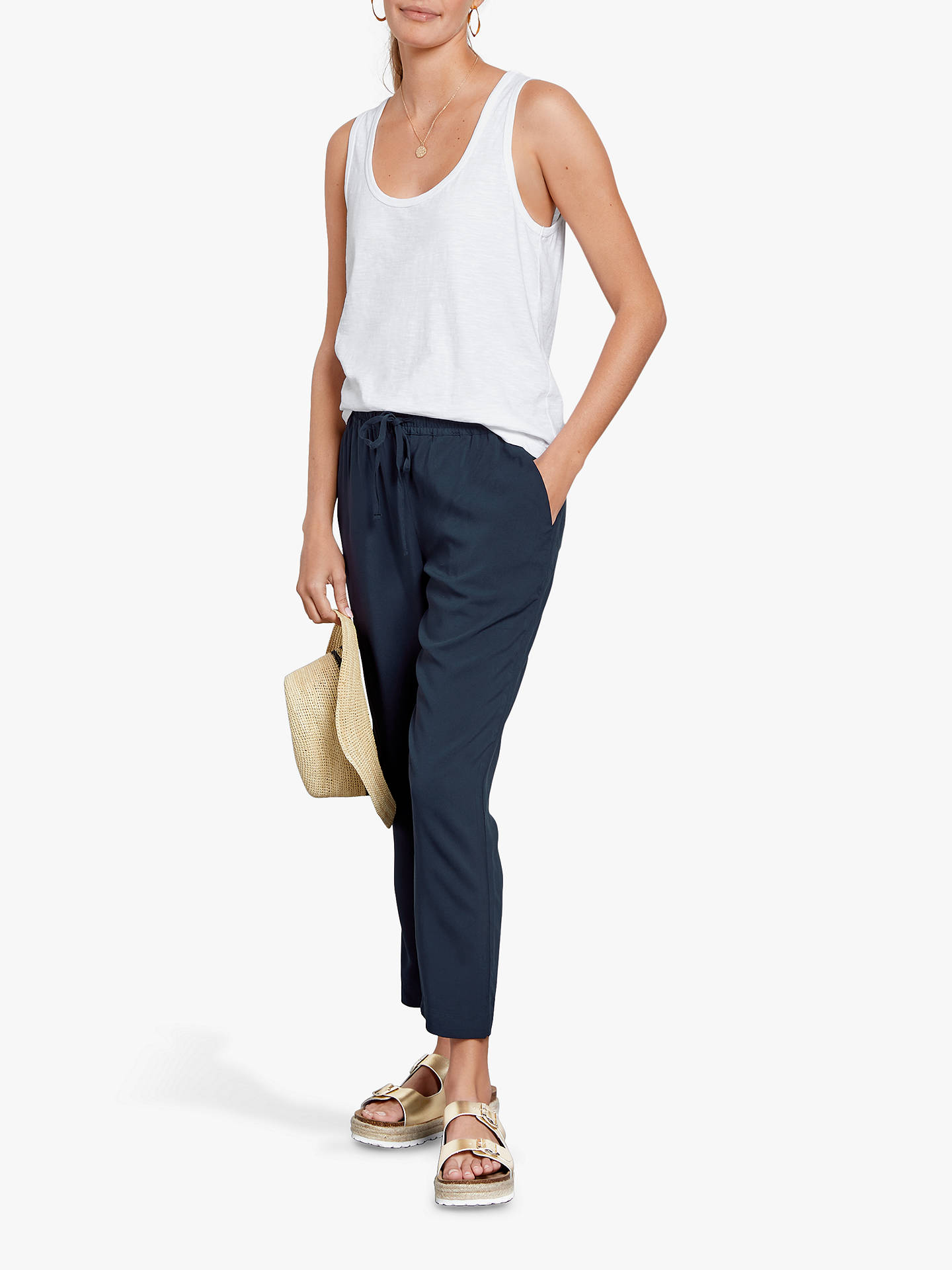 5b4d416582ef hush Cropped Easy Trousers at John Lewis   Partners