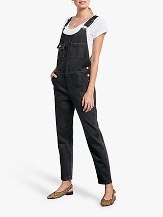 hush Denim Dungarees, Black