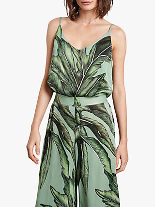 hush Aster Cami Top, Palm Leaf Print