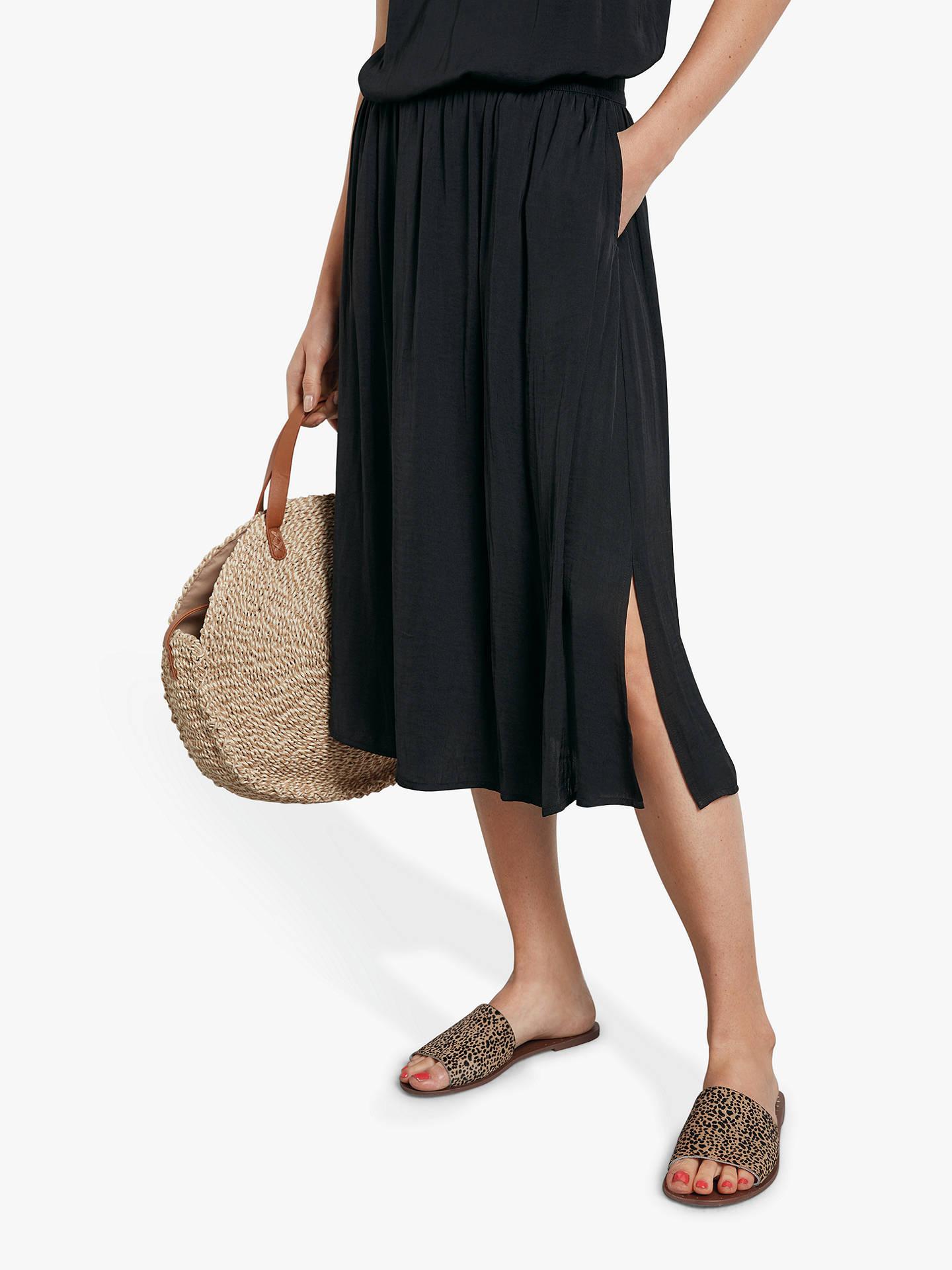 07810ff8e6 Buy hush Santana Midi Skirt, Black, 16 Online at johnlewis.com ...