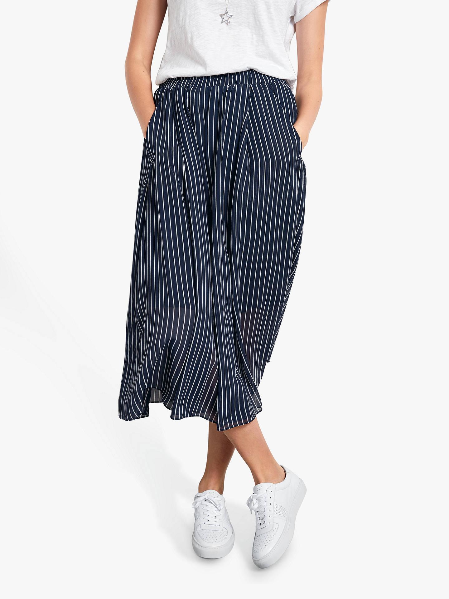 291b3fab8 Buy hush Marina Stripe Midi Skirt, Midnight Blue/White, 8 Online at  johnlewis ...
