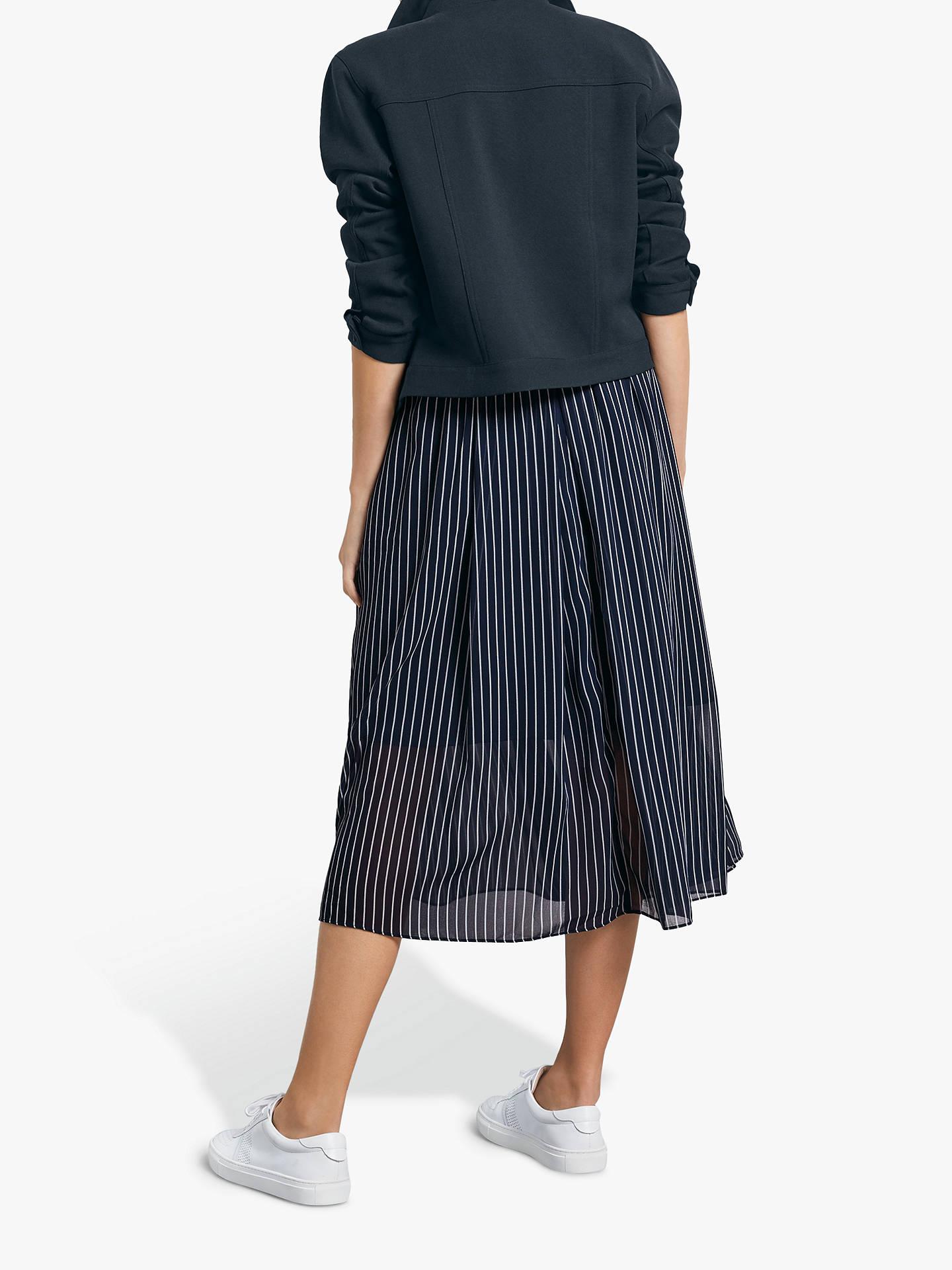 e1ac4d204 ... Buy hush Marina Stripe Midi Skirt, Midnight Blue/White, 8 Online at  johnlewis ...
