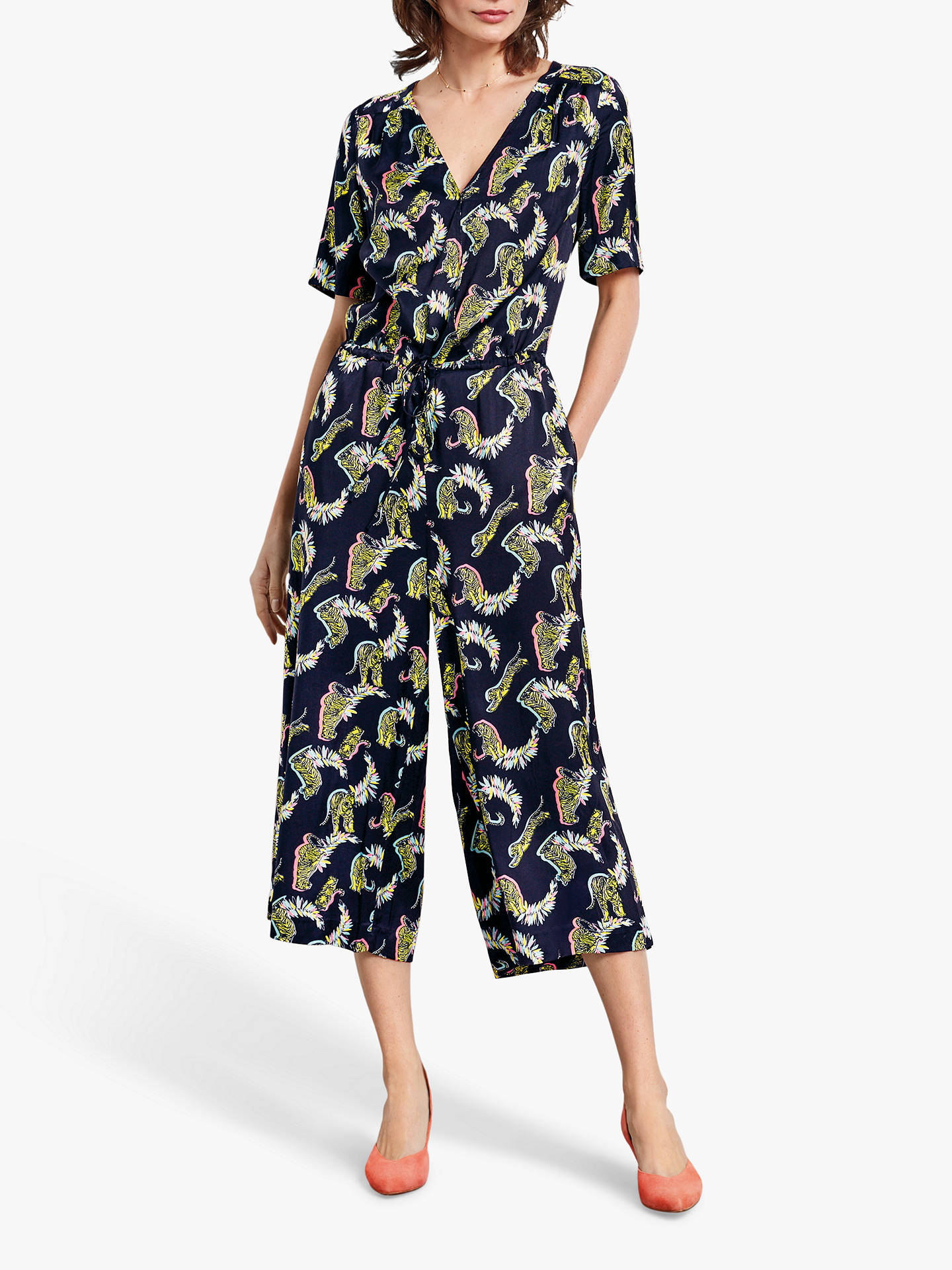 Buy hush Carly Cropped Jumpsuit, Tiger Print, 8 Online at johnlewis.com