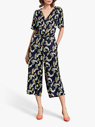 hush Carly Cropped Jumpsuit, Tiger Print