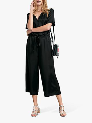 hush Carly Cropped Jumpsuit, Black