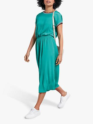 hush Maple Sateen Midi Dress, Spectra Green